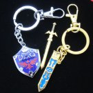 Legend of Zelda Link sword keychain removable Sword Hylian Shield zinc jewelry