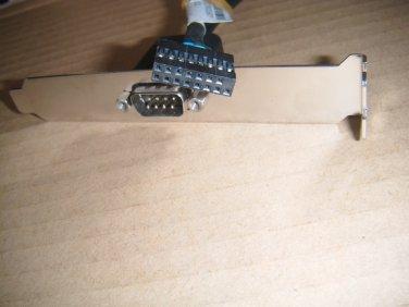 Lenovo IBM thinkCentre Serial Second cable com2 Port 71y6217 71y6221 71Y6219 03T8177 w/Full bracket