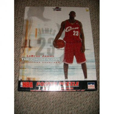 LEBRON JAMES THE CHOSEN ONE PUZZLE AND POSTER CLEVELAND CAVALIERS