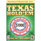 Texas Hold'em All In No Limit International PC/MAC NEW O-08346/OVA22