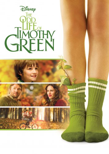 DISNEYS THE ODD LIFE OF TIMOTHY GREEN DVD NEW
