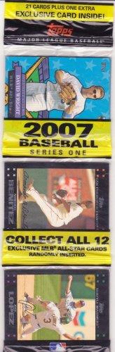 2007 topps baseball 21 card rack pack