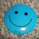 BLUE HAPPY/SMILEY FACE BUTTON