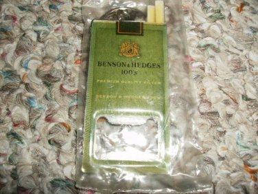 BENSON AND HEDGES CIGARETTES KEYCHAIN/BOTTLE OPENER