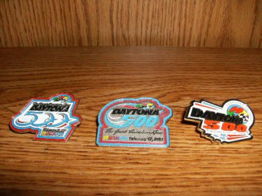 THREE DAYTONA 500 RACEDAY PINS DAYTONA SPEEDWAY