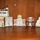 LOT OF SIX CERAMIC MINIATURE BUILDING