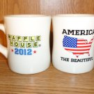 TWO WAFFLE HOUSE AMERICA THE BEAUTIFUL CUPS MUGS 2012