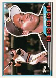 topps barry bonds 1989 #5 card