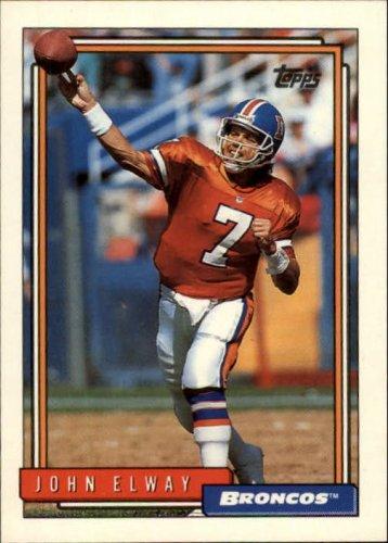 1992 Topps #125 John Elway UER/(Card says 6-year/vet, should be 9) Error Card