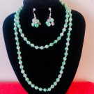 Long Green necklace and earring set