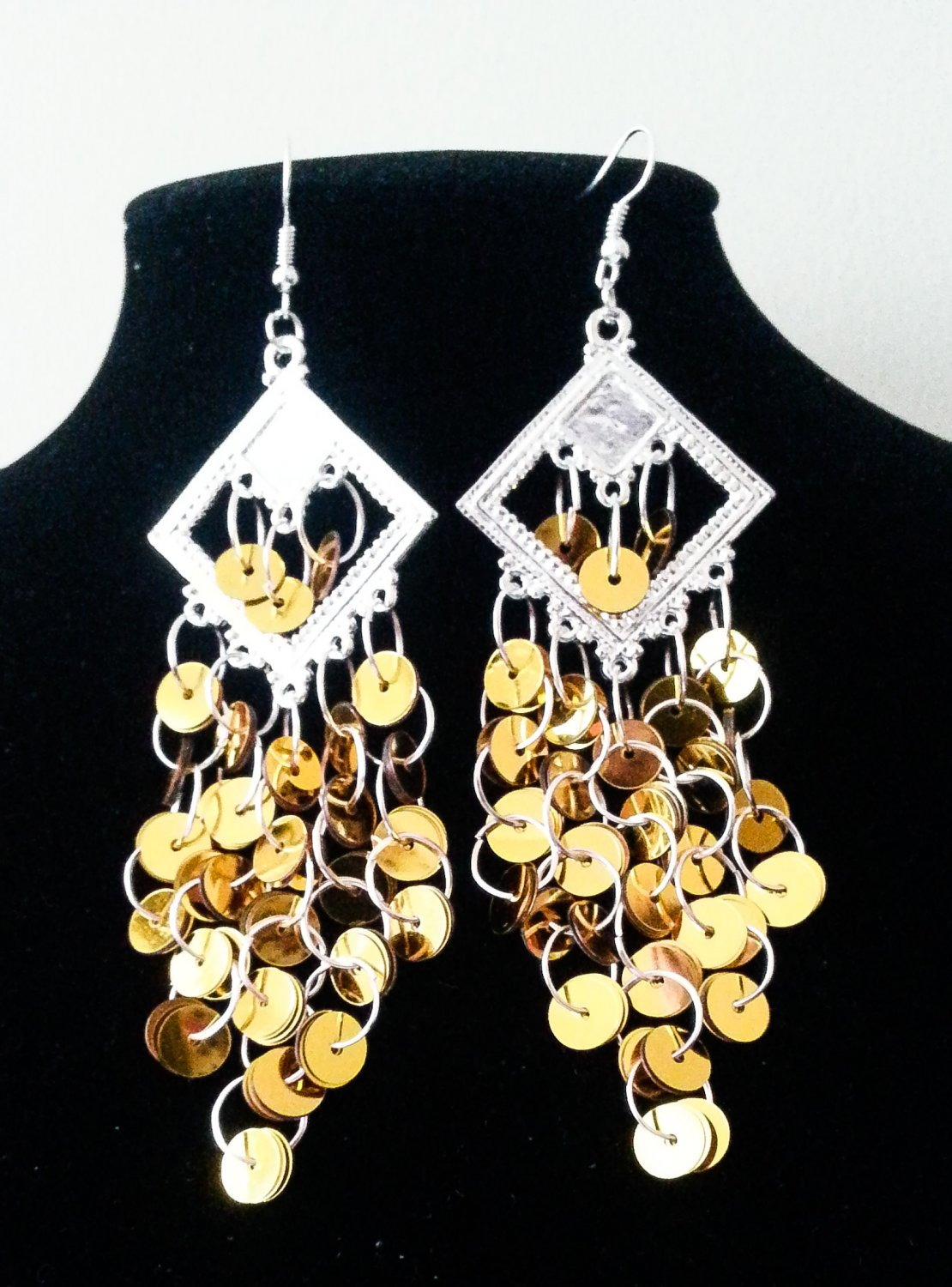 Gold chandelier earrings