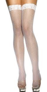 Thigh High Fishnet stockings- 4 colors- sexy seductive naughty lingerie- Free shipping