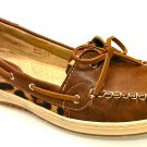 Women Boat shoes Brown Leopard