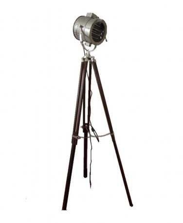 SPOTLIGHT WITH BROWN WOOD TRIPOD STAND