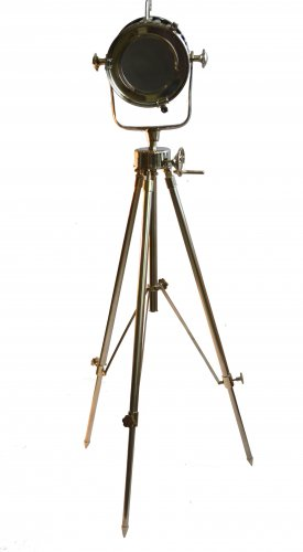 FULL CHROME SEARCHLIGHT WITH REVOLVING TRIPOD STAND
