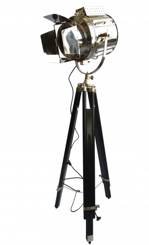 DESIGNERS FLAP SEARCH LIGHT WITH BLACK TRIPOD STAND