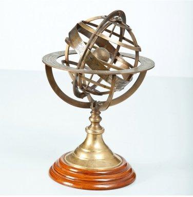 "Brass Tabletop Armillary Nautical Sphere Globe-8"""