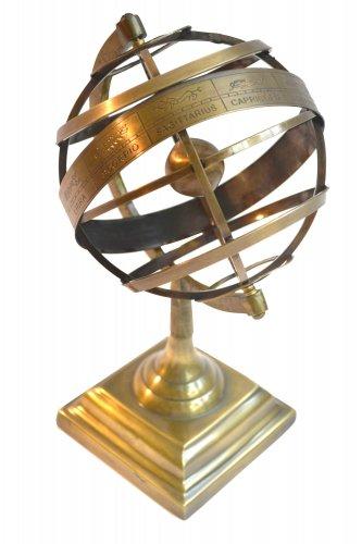 Brass Tabletop Armillary Nautical Sphere Globe Table Decor Armillary