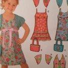 Simplicity Sewing Pattern 4248 Girls Childs Dress Bag Shrug Size 3-8 Uncut
