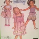 Simplicity Sewing Pattern 2992 Childrens Girls Dress Top Shorts Bag Size 1/2- 4