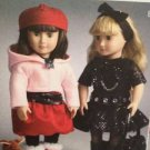 "McCalls Sewing Pattern 6669 Crafts Dolls 18"" Clothing Accessories & Dog One Size"