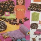 """Simplicity Sewing Pattern 5272 18"""" (45.5cm) Dolls Clothes Accessories Uncut"""