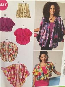 McCalls Sewing Pattern 6468 Ladies Misses Unlined Vest Jacket Size XS-MD Uncut