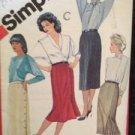 Sewing Pattern No 6234 Simplicity Ladies Set of Slim Skirts Size 12