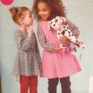 McCalls Sewing Pattern 6595 Girls / Childs Top Dress Jumper Pants Size 2-5 Uncut