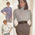 Simplicity Sewing Pattern 8867 Ladies / Misses Pullover Top Size SM Uncut