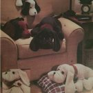 "Vogue Sewing Pattern 7677 21"" & 28"" Plush Dogs Home Craft Uncut Decorating"