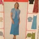 McCalls Sewing Pattern 4054 Ladies Misses Dress Jacket Size 12-18 Uncut
