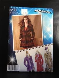 Simplicity Sewing Pattern 0238 Misses Ladies Coat Size 14-22 Uncut
