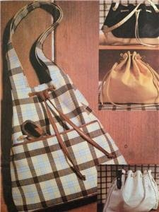 Vogue Sewing Pattern 7703 Four Lined Drawstrings Hangbags Fashion Uncut