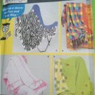 Simplicity Sewing Pattern 5335 Crafts Fleece Blankets Home Decoration OS