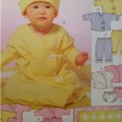 McCalls Sewing Pattern 4280 Baby Infant Layette Gown Top Dress Size S-XL UC