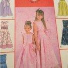 McCalls Sewing Pattern 4359 Girls Childs Dress Sash Size 7-12 Uncut