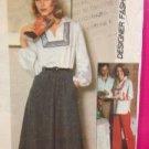 Simplicity Sewing Pattern 8087 Ladies / Misses Top Skirt Pants Size 6-8 Uncut