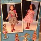 Sewing Pattern No 1670 Simplicity Girls/Child Dress Size 4-8 Uncut