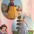 Simplicity Sewing Pattern 2817 Girls Cinderella Snow White Size 7-14 Uncut