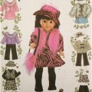 "Simplicity Sewing Pattern 4416 Crafts,  Toy 18"" Doll Clothing, Clothes One Size"