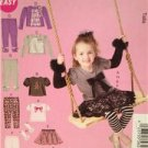 McCalls Sewing Pattern 6593 0260 Gilrs Childs Top Leggings Skirt Size 1-3 Uncut