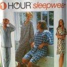 Simplicity Sewing Pattern 9391 Misses Mens Teens Sleepwear Size XS-M Uncut