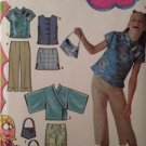 Simplicity Sewing Pattern 5220 Girls Top Skirt Pants Purse Size 8-16 Uncut