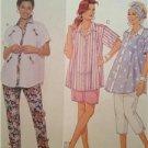 McCalls Sewing Pattern 6540 Maternity Shirt Pants Shorts Size 10-14 Uncut 1993