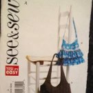See & Sew Sewing Pattern 5449 Handbags One Size Uncut