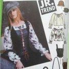 Simplicity Sewing Pattern 5799 Teens Juniors Blouse Vest Belt Hats Bags 11-16