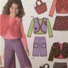 Simplicity Sewing Pattern 4410 Girls Childs Pants Skirt Vest Top Size 3-6 Uncut