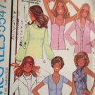 Sewing Pattern No 5547 McCalls Ladies Cardigan and Set of Tops Size 10