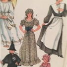 Simplicity Sewing Pattern 7650 Girls Angel Witch Costumes Size 6-8 Uncut